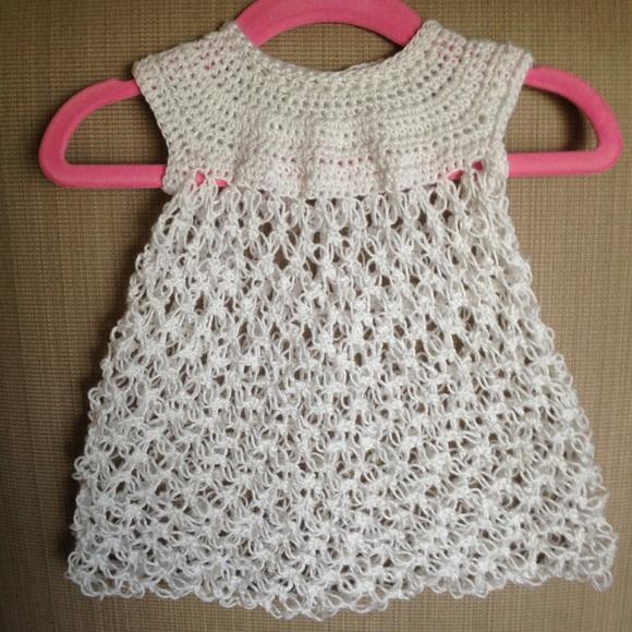 Dresses Hand Crocheted Newborn Dress Poshmark